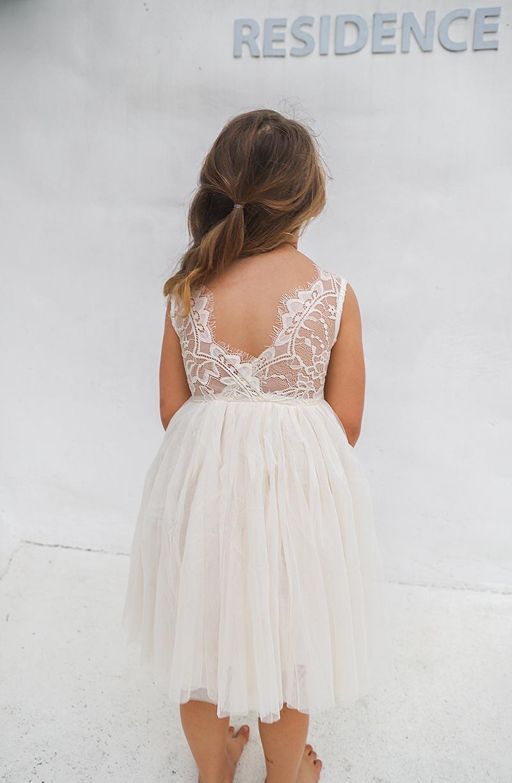 Cream Chloe Lace Back Dress2