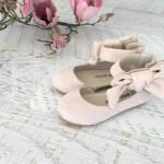 Girls Lola Bone Velvet Shoes