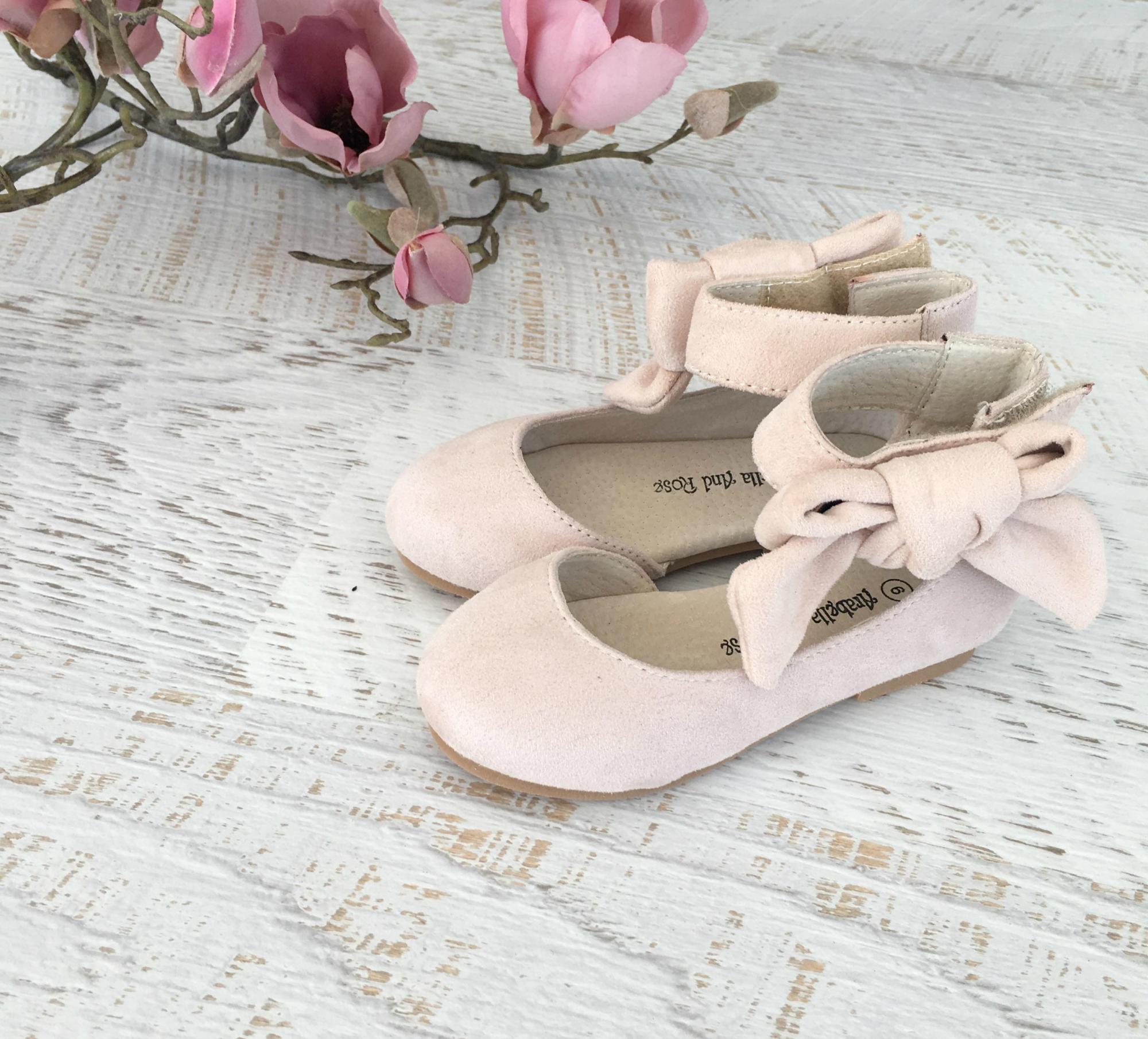Flatlay of the Lola Bone Velvet Shoes