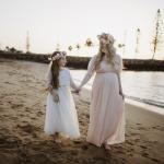 Girls White Aurora Lace Top and Ivory Eden Tulle Skirt