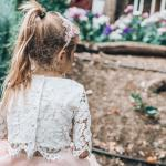 Girls White Aurora Lace Top