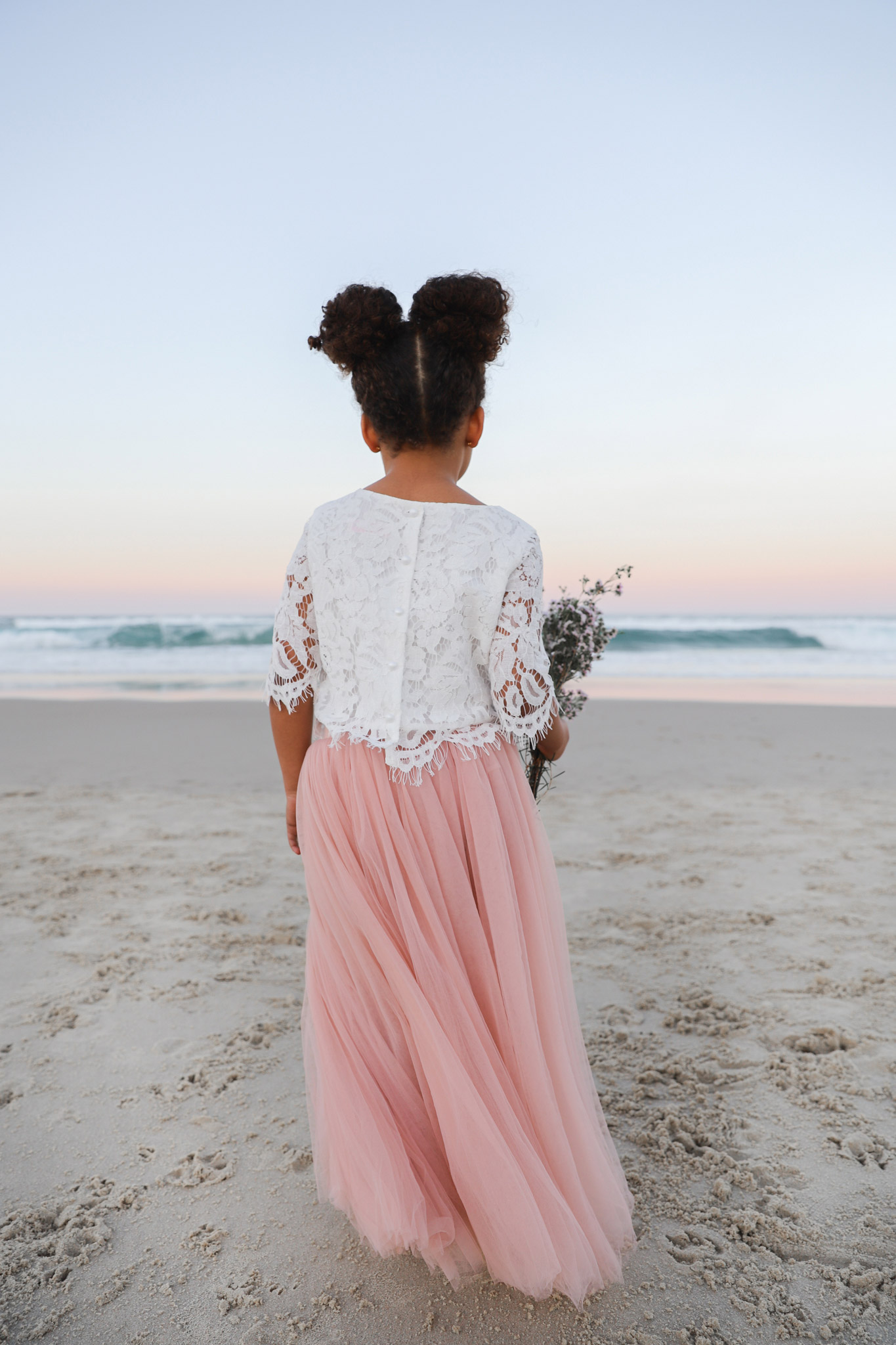 Aurora Lace Top Dusty Pink Eden Tulle Skirt