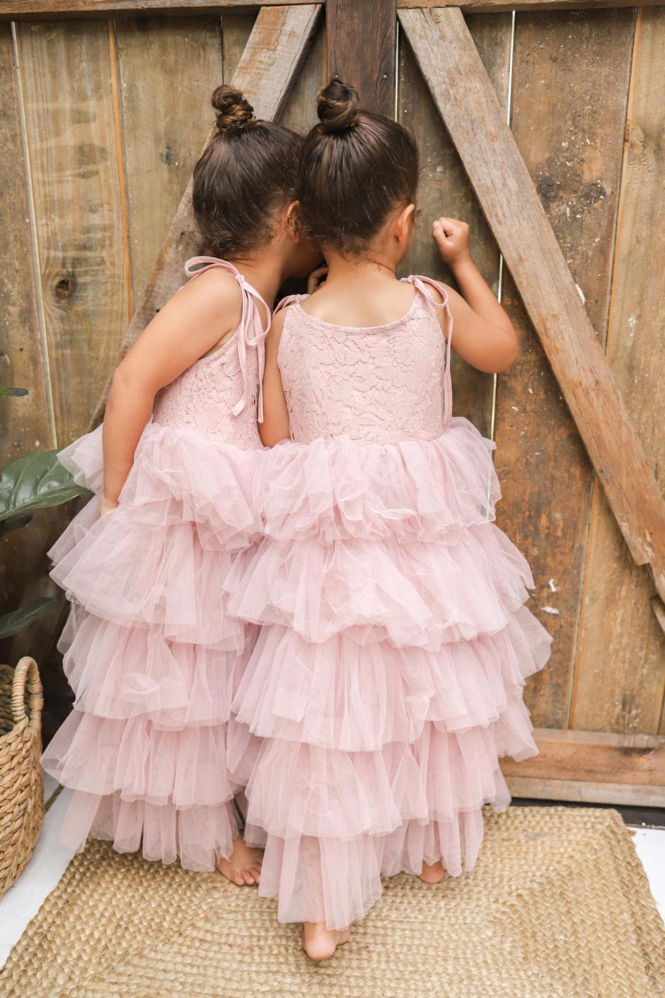 Girls Briar Rose Mid Length Flower Girl Dress