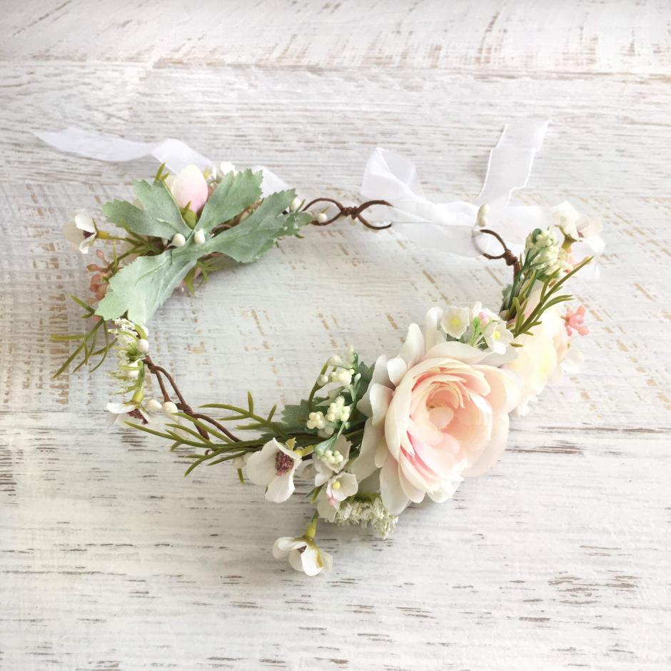 Girls Sahara Peach Flower Crown