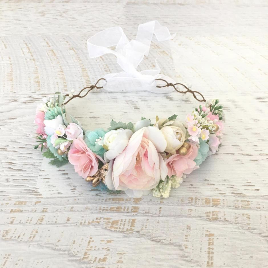 Girls Pastel Haven Flower Crown