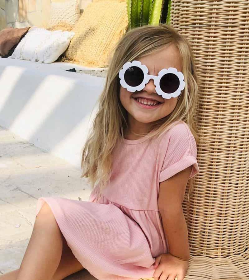 White Flower Child Sunglasses Thumb