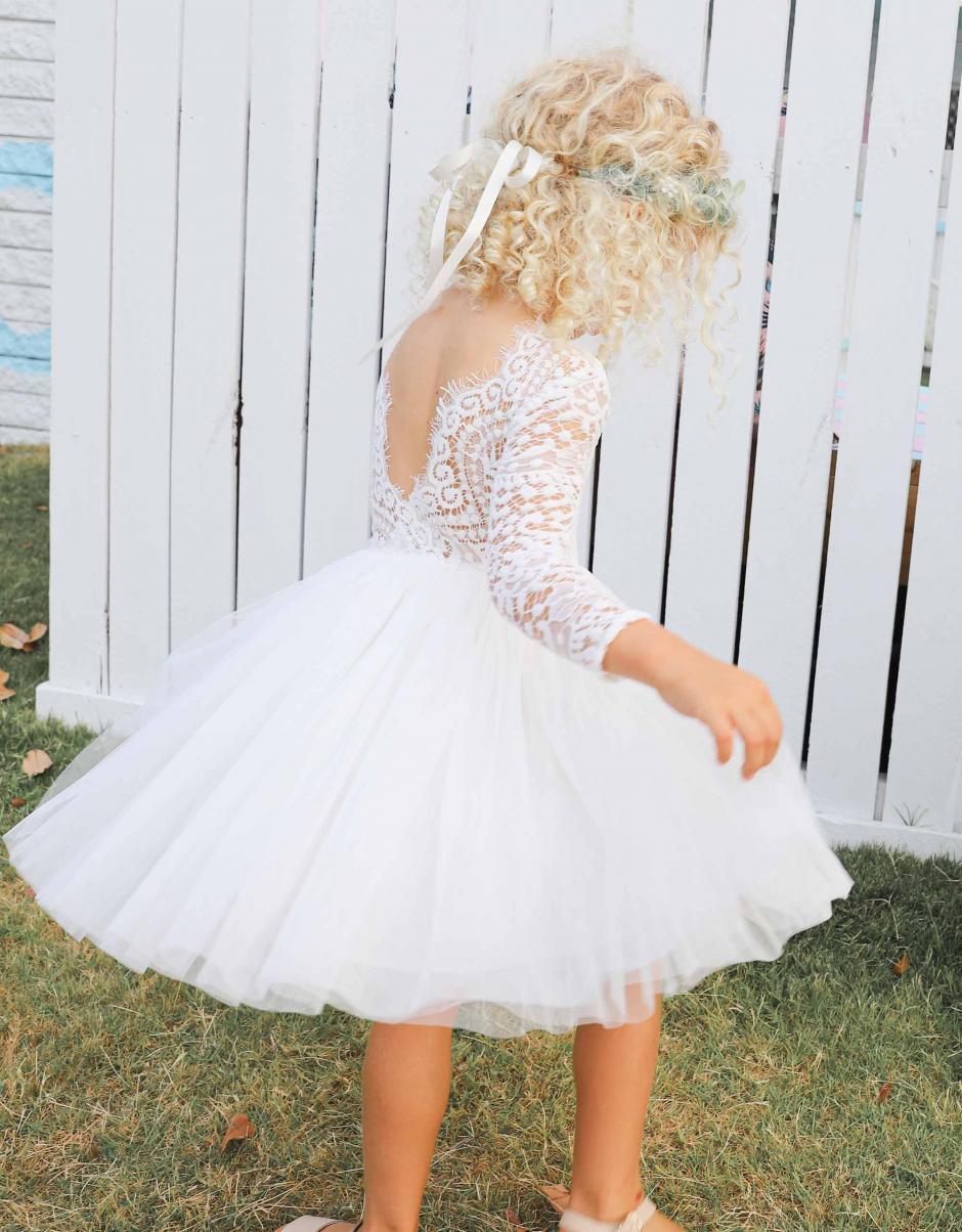 White Giselle Lace Back Dress1