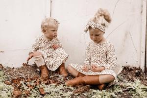 Girls Caramel Ocelot Dress