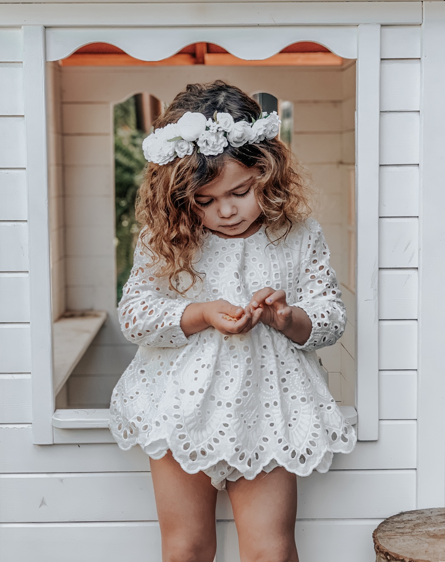 Girls Ivy Broderie Anglaise 2 Piece Set