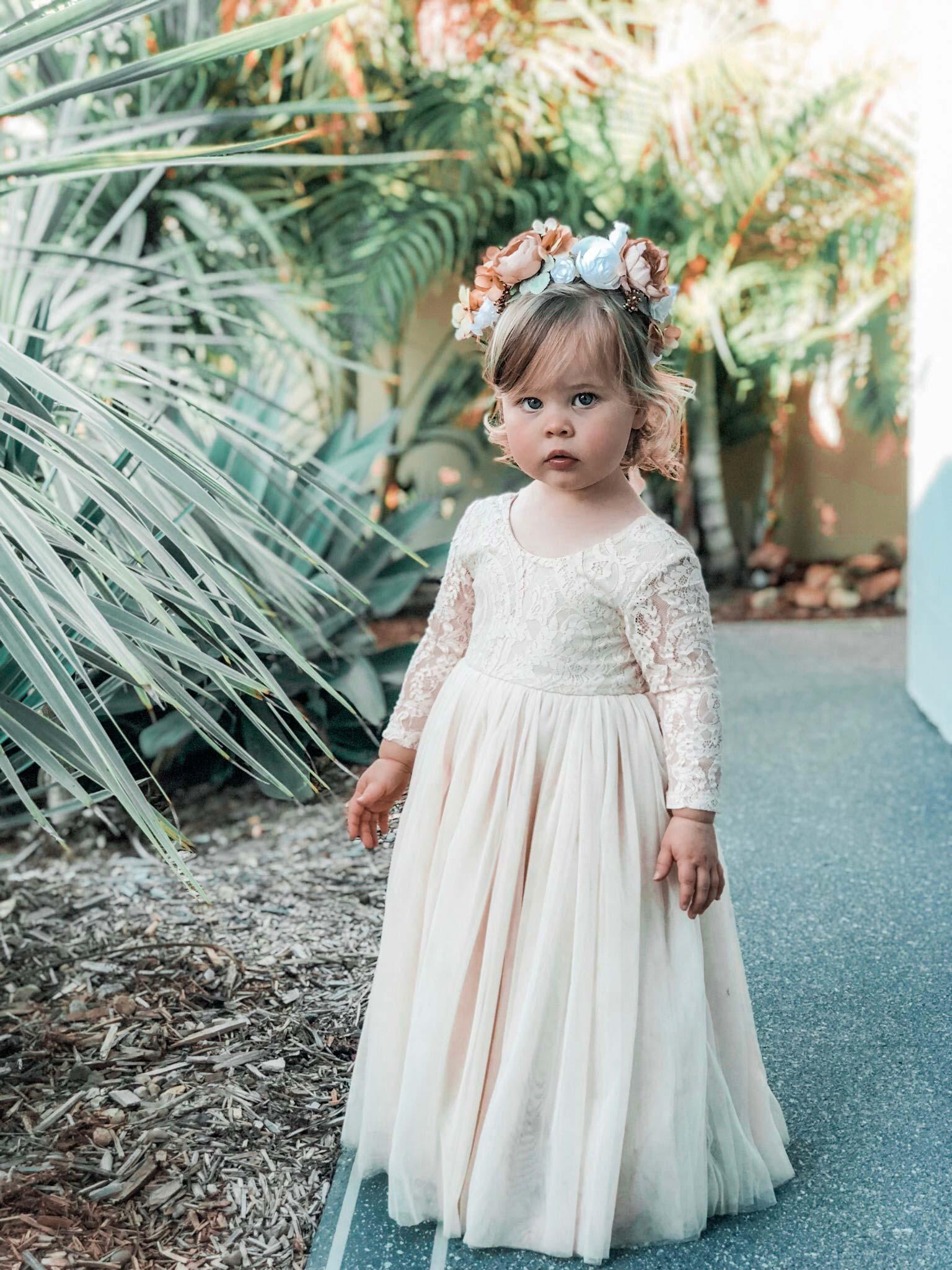 Isadora Long Sleeve Lace Back Dress