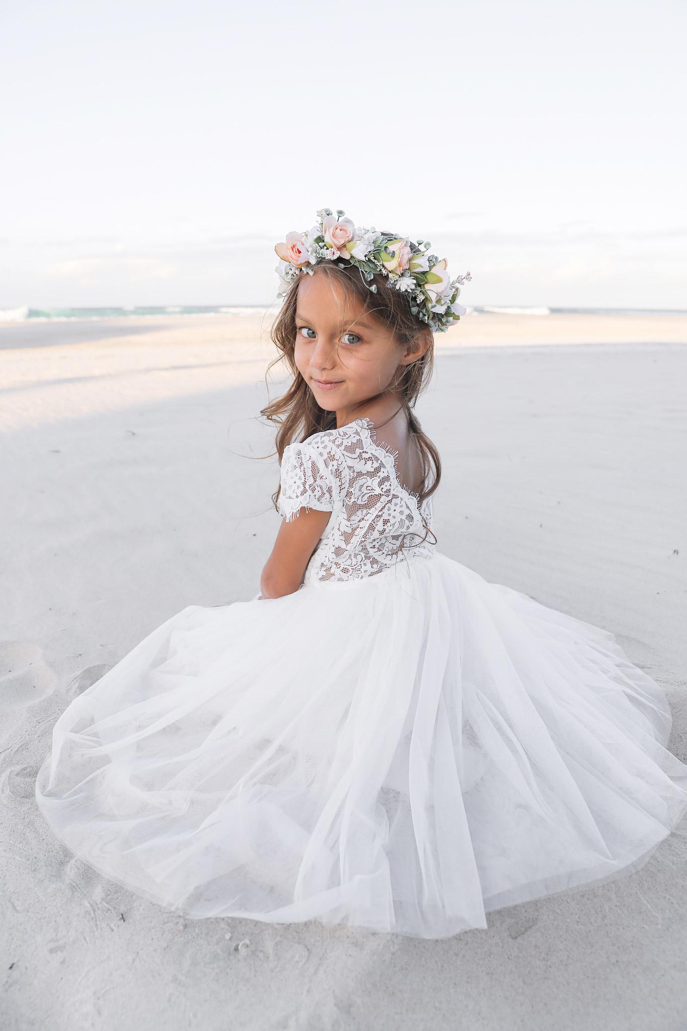 White Flora Lace Back Dress4