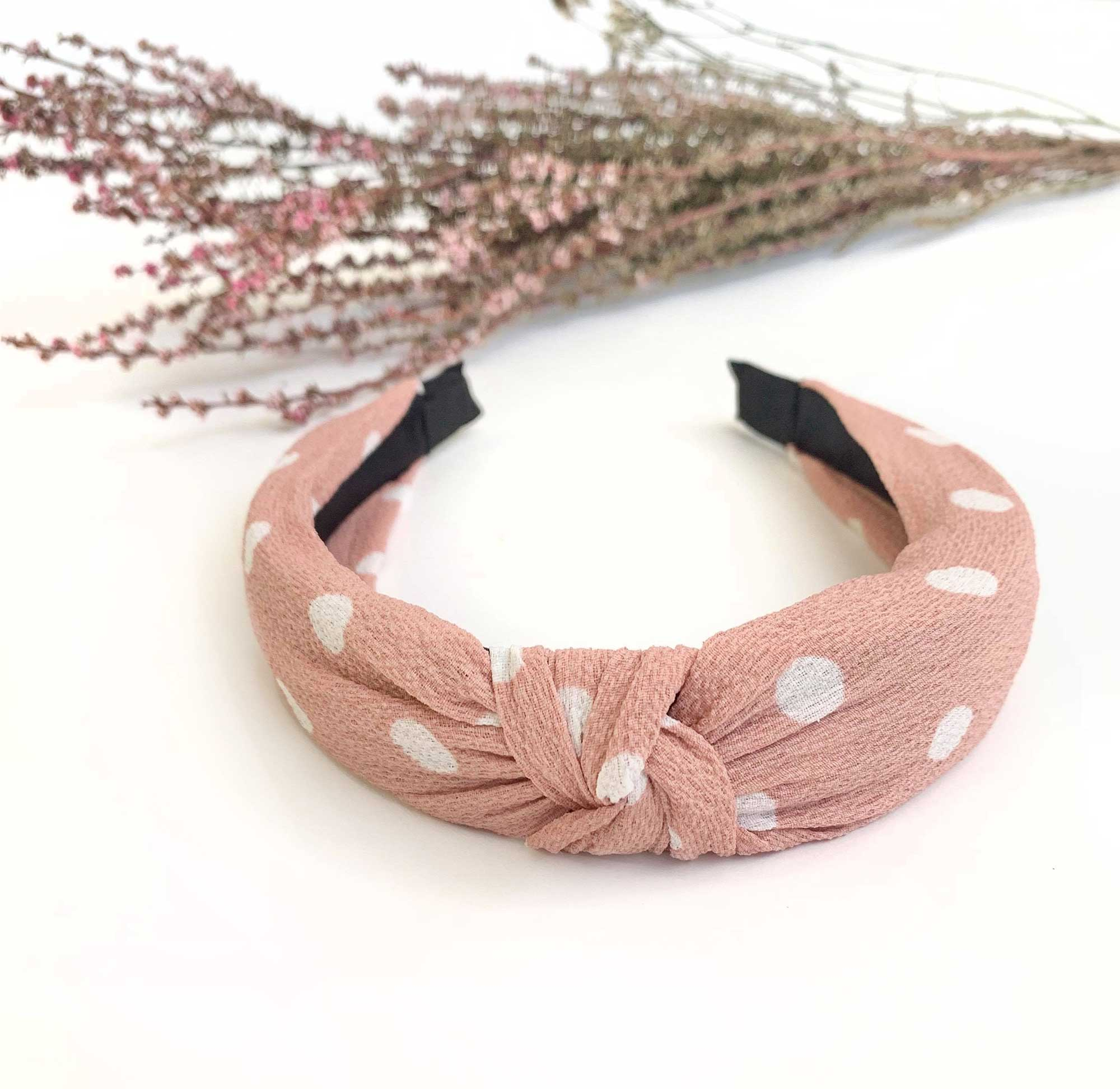 Tamara Dusty Pink Knot Headband1
