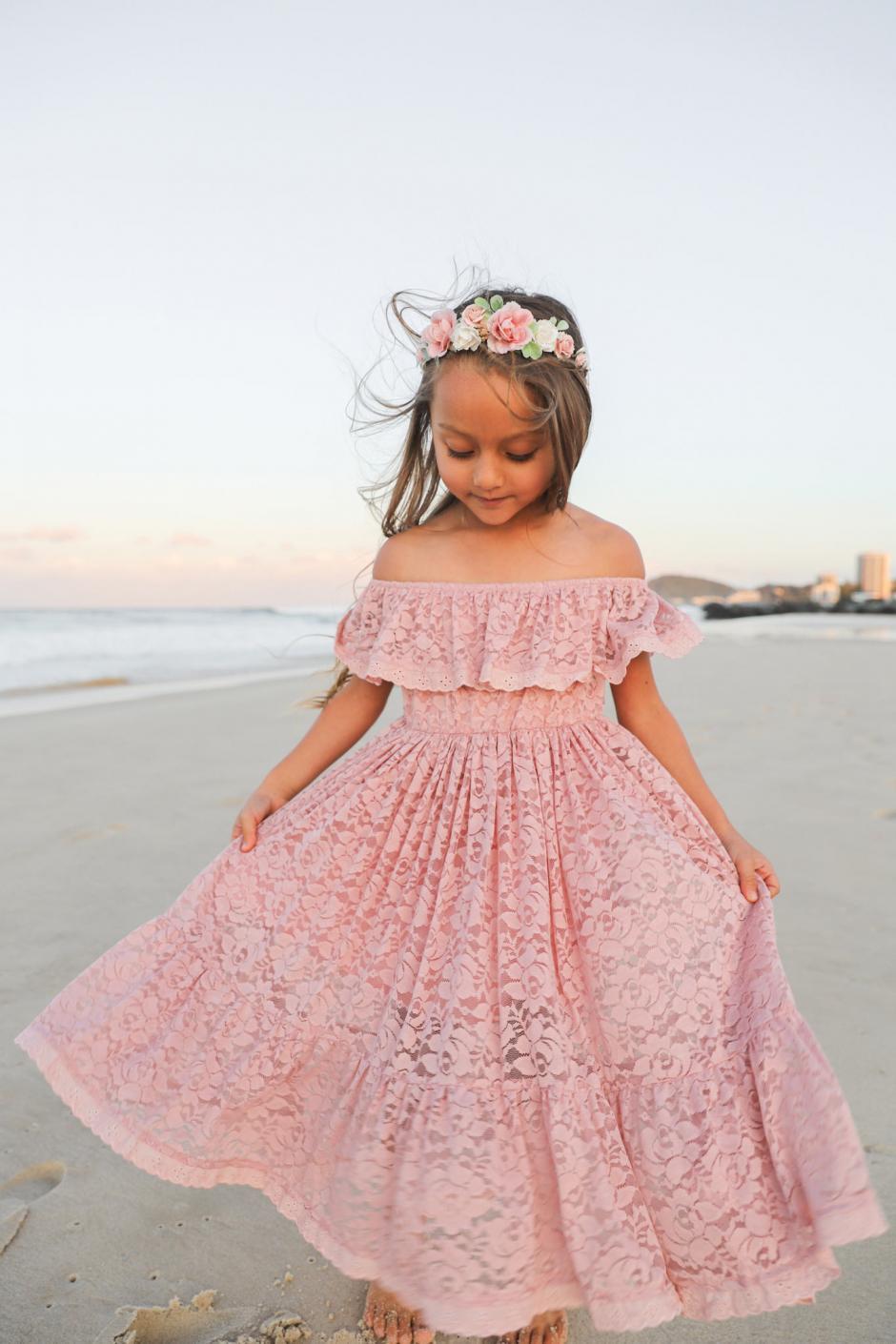Delphine Dusty Rose Lace Off The Shoulder Dress2