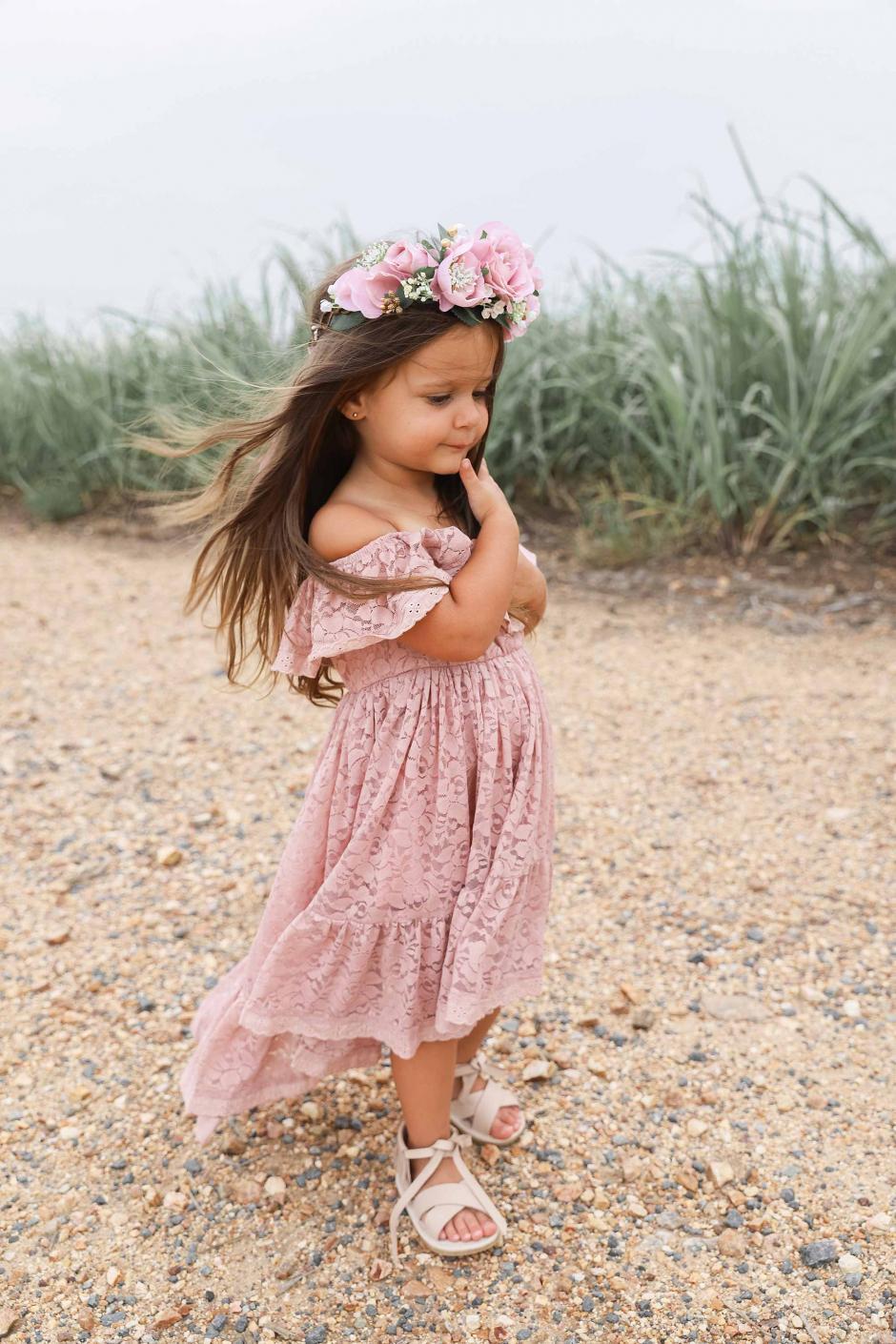 Delphine Dusty Rose Lace Off The Shoulder Dress9