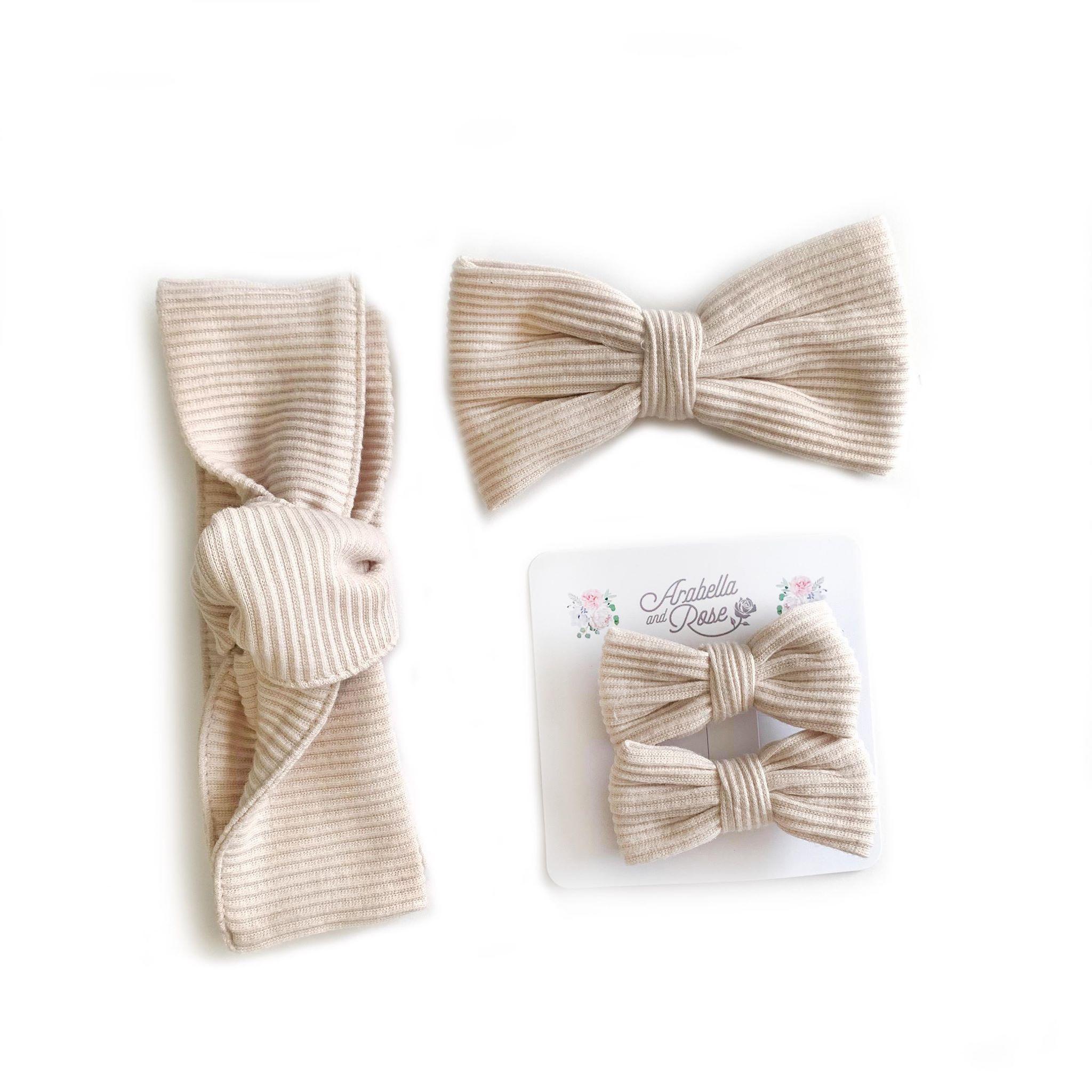 Cream Ribbed Accessories