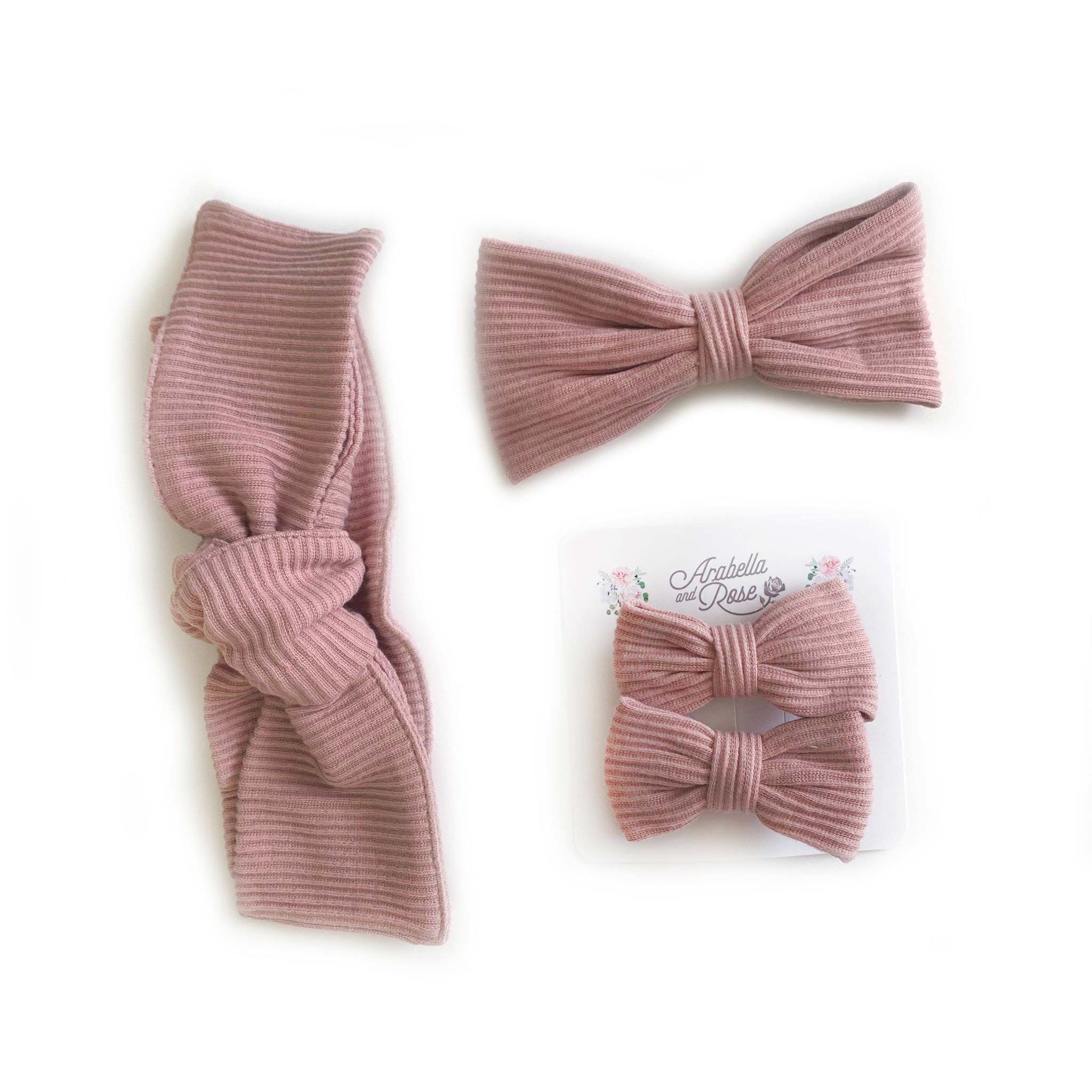 Dusty Pink Ribbed Accessories