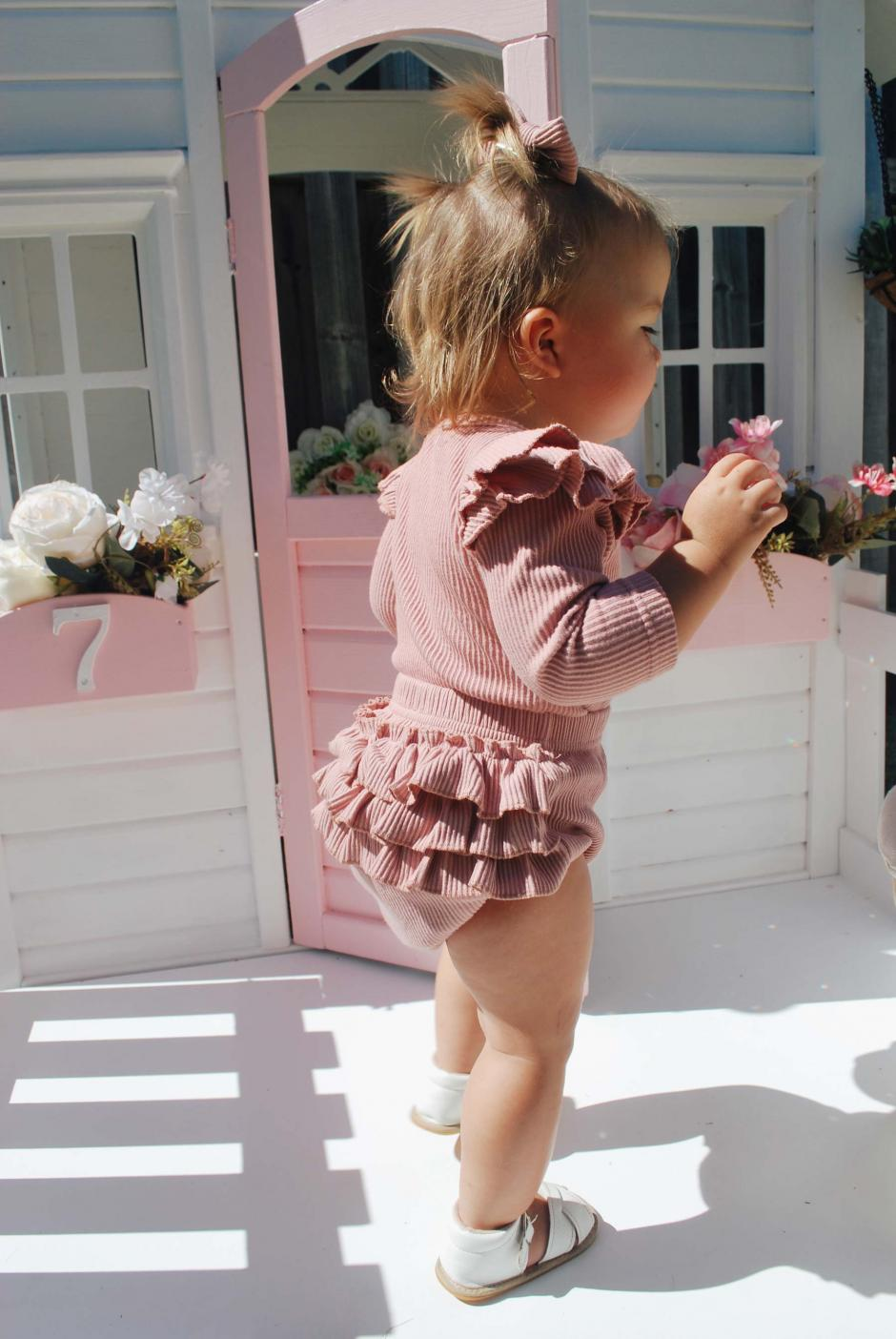 Haven Dusty Pink Ribbed Bloomers4