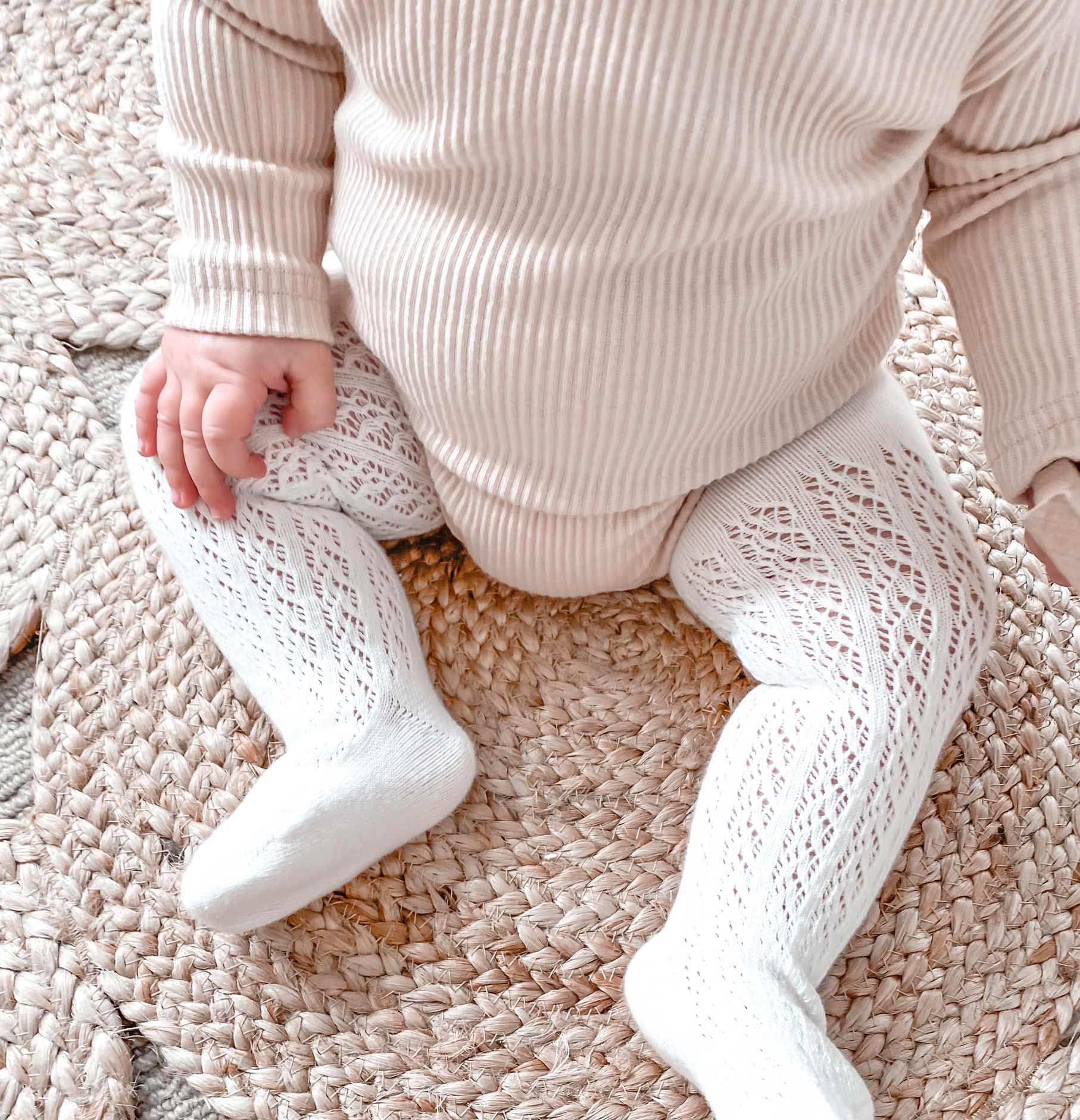 White Sadie Tights Kiki Cream Bodysuit