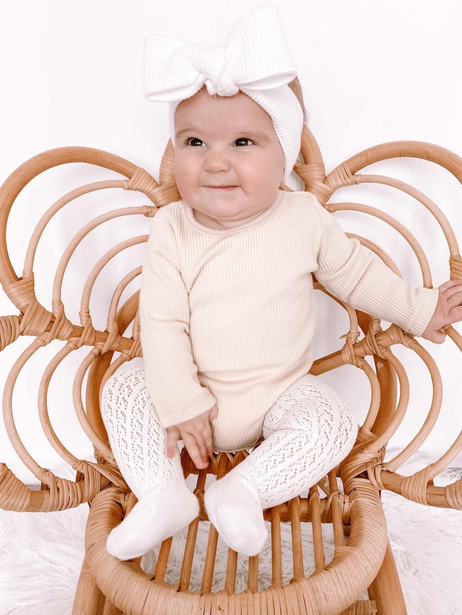 White Sadie Tights Kiki Cream Bodysuit3