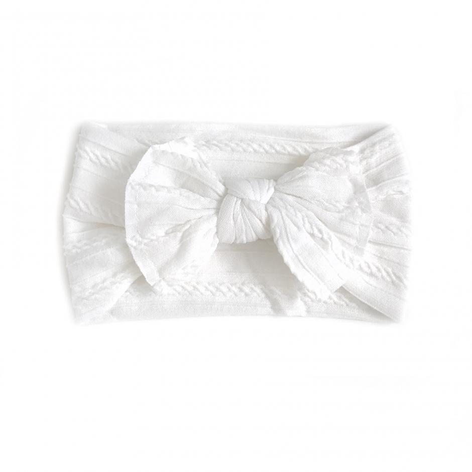 Ophelia White Stretch Headband