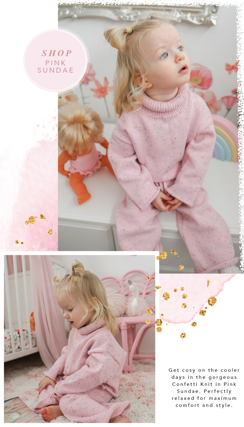 Pink Confetti Knit Double3