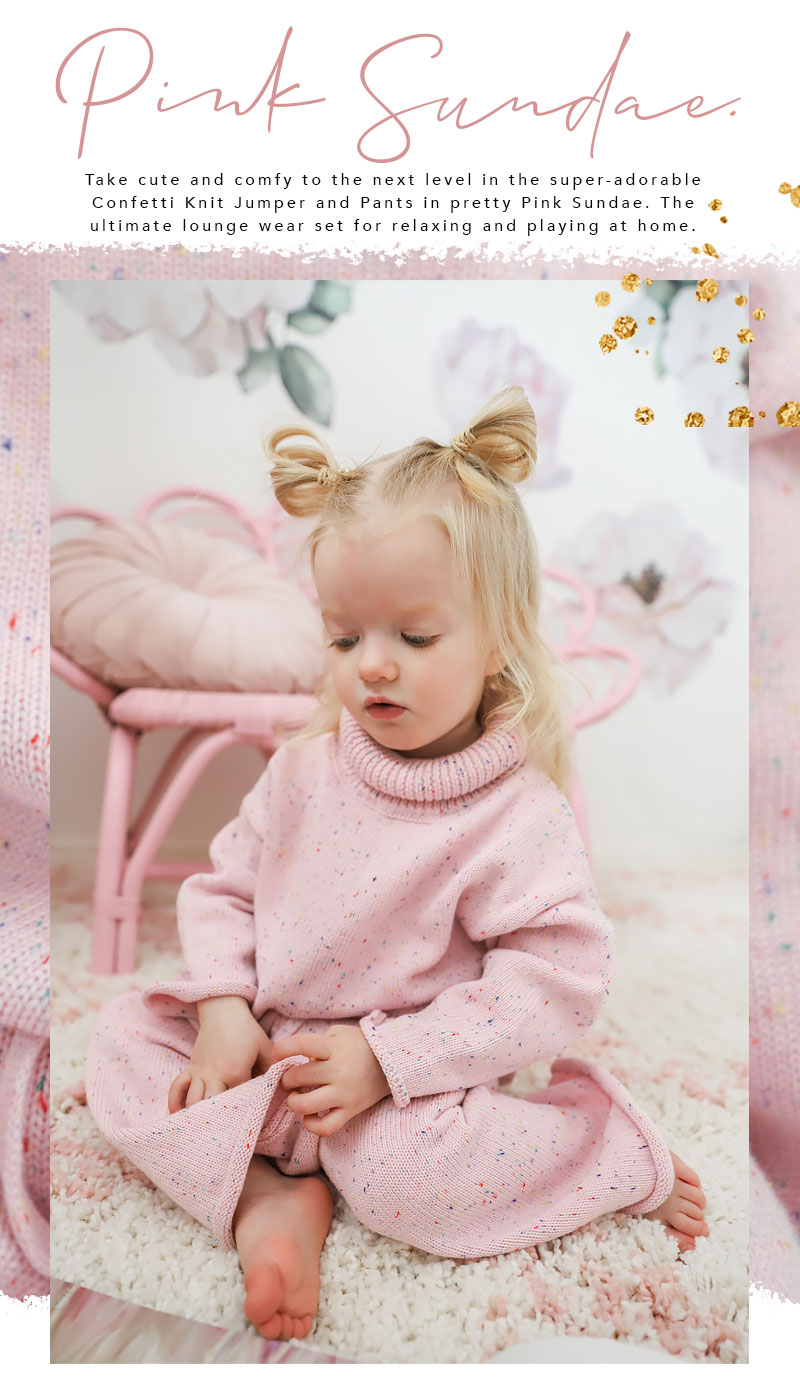 Pink Confetti Knit Single