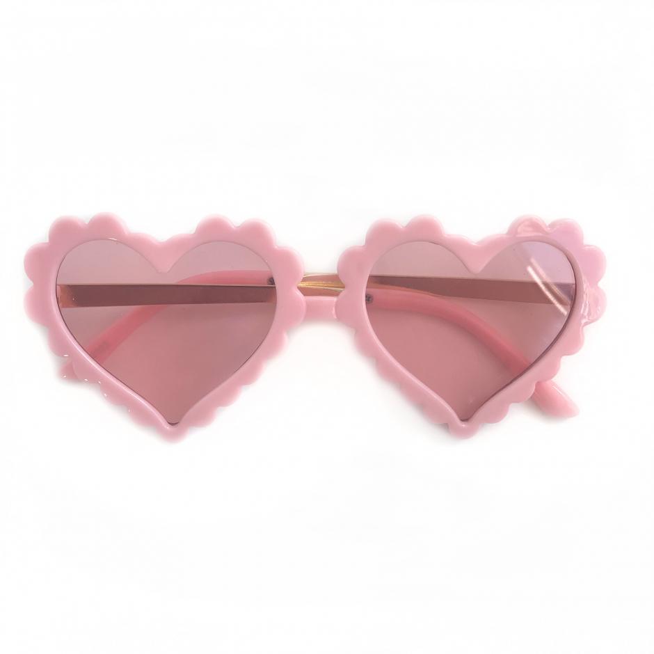 Pink Loveheart Sunglasses