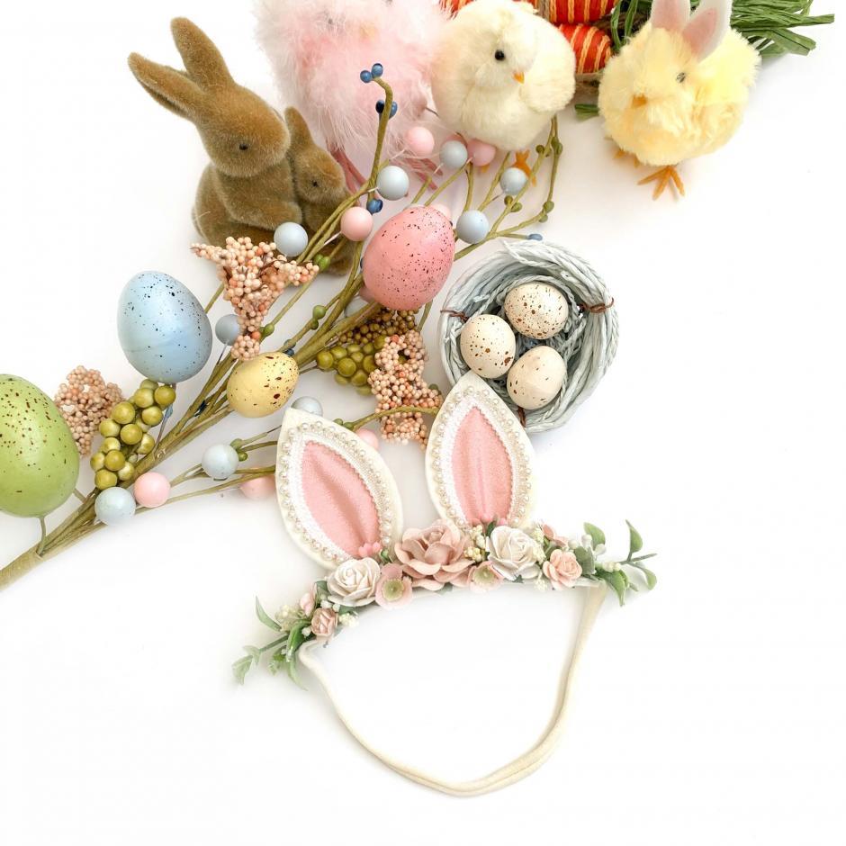 Hoppity Ears Pink Stretch Headband 1