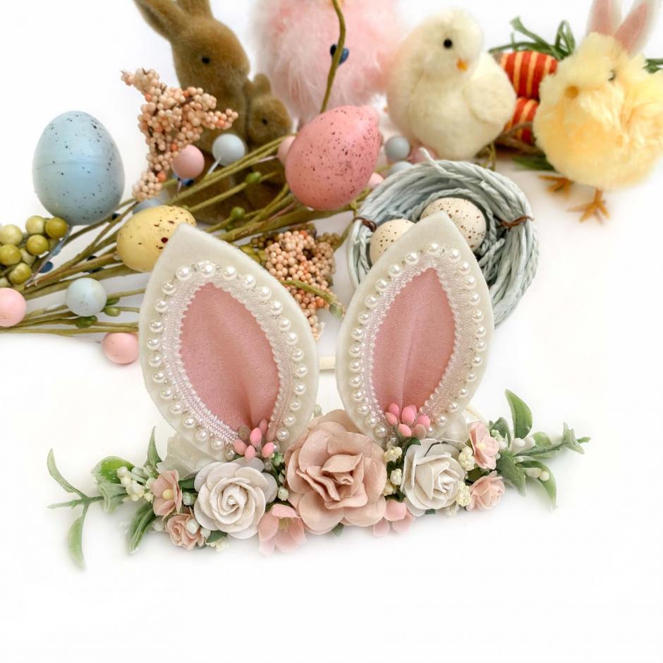 Hoppity Ears Pink Stretch Headband