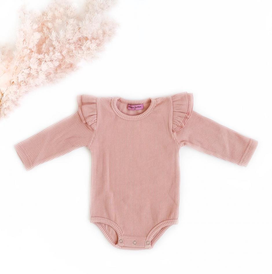 Poppy Bodysuit Pink Dust Front