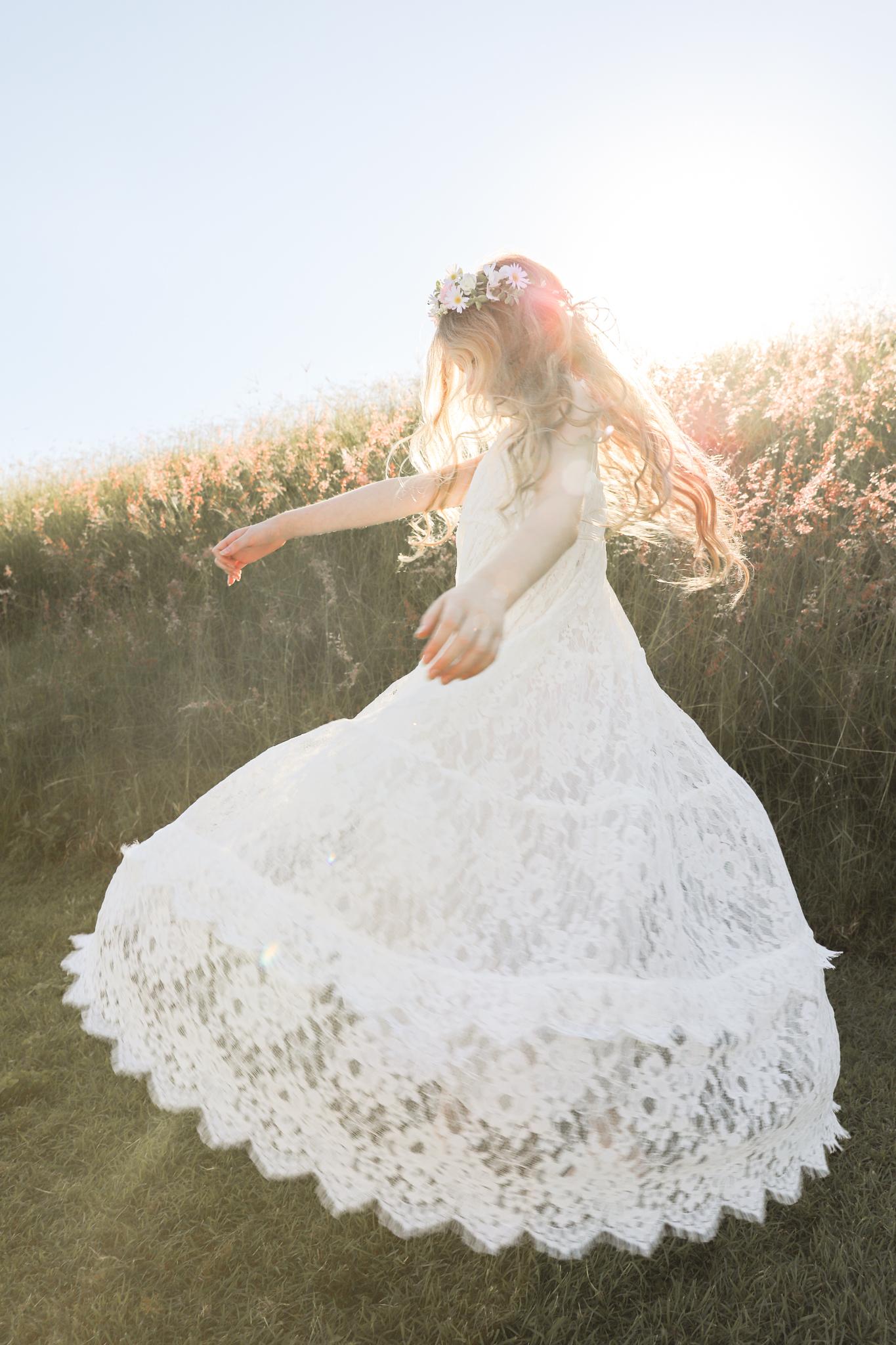 Gypsy Lace Flower Girl Dress