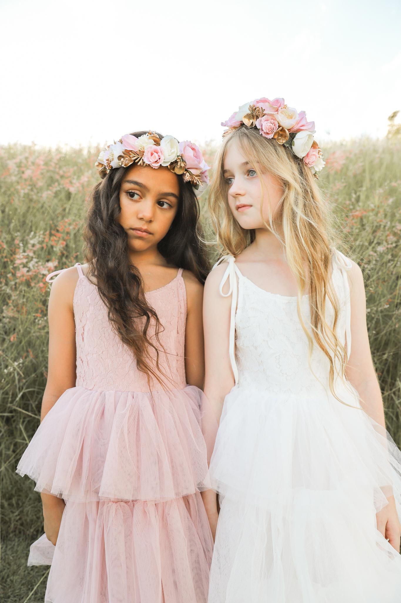 Girls Goldie Flower Crown