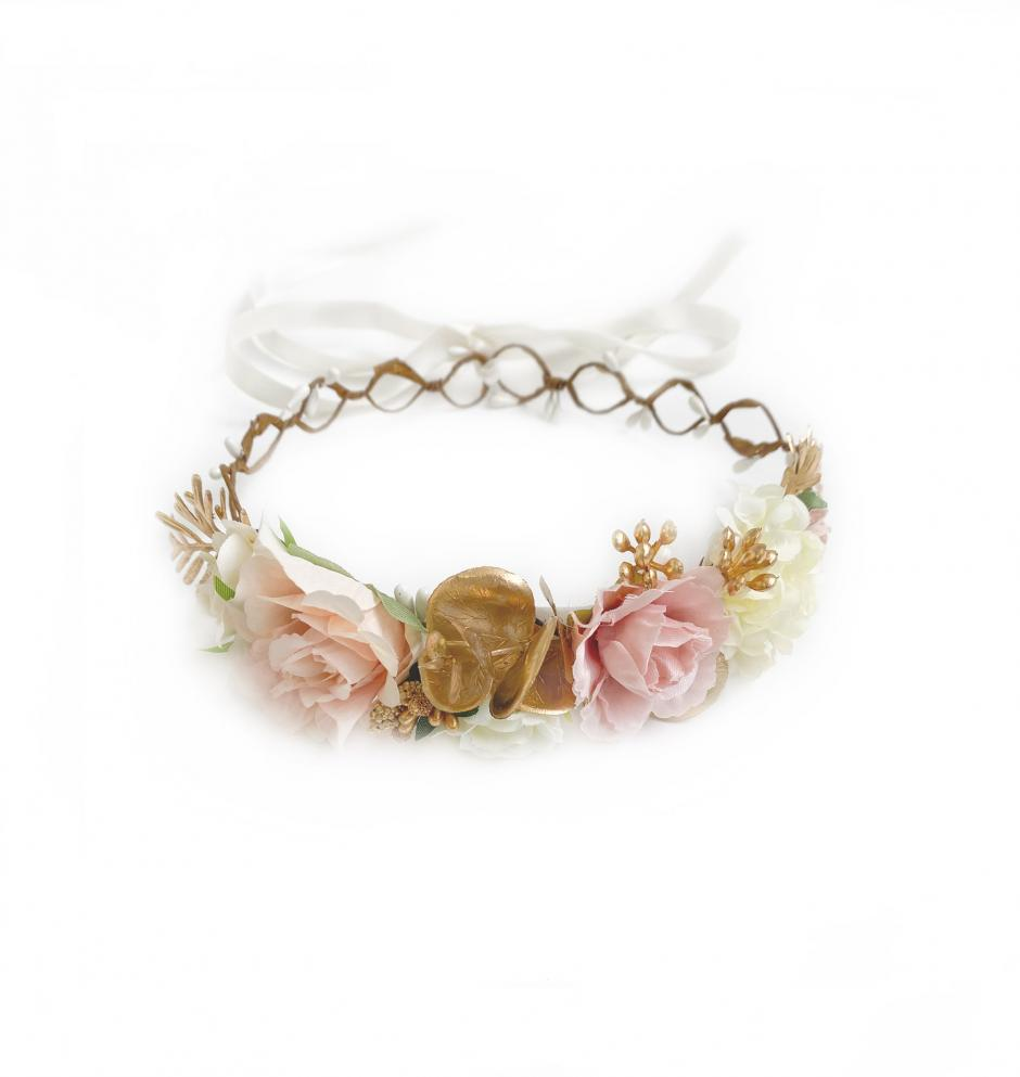 Girls Mae Flower Crown For Flower Girl Dress