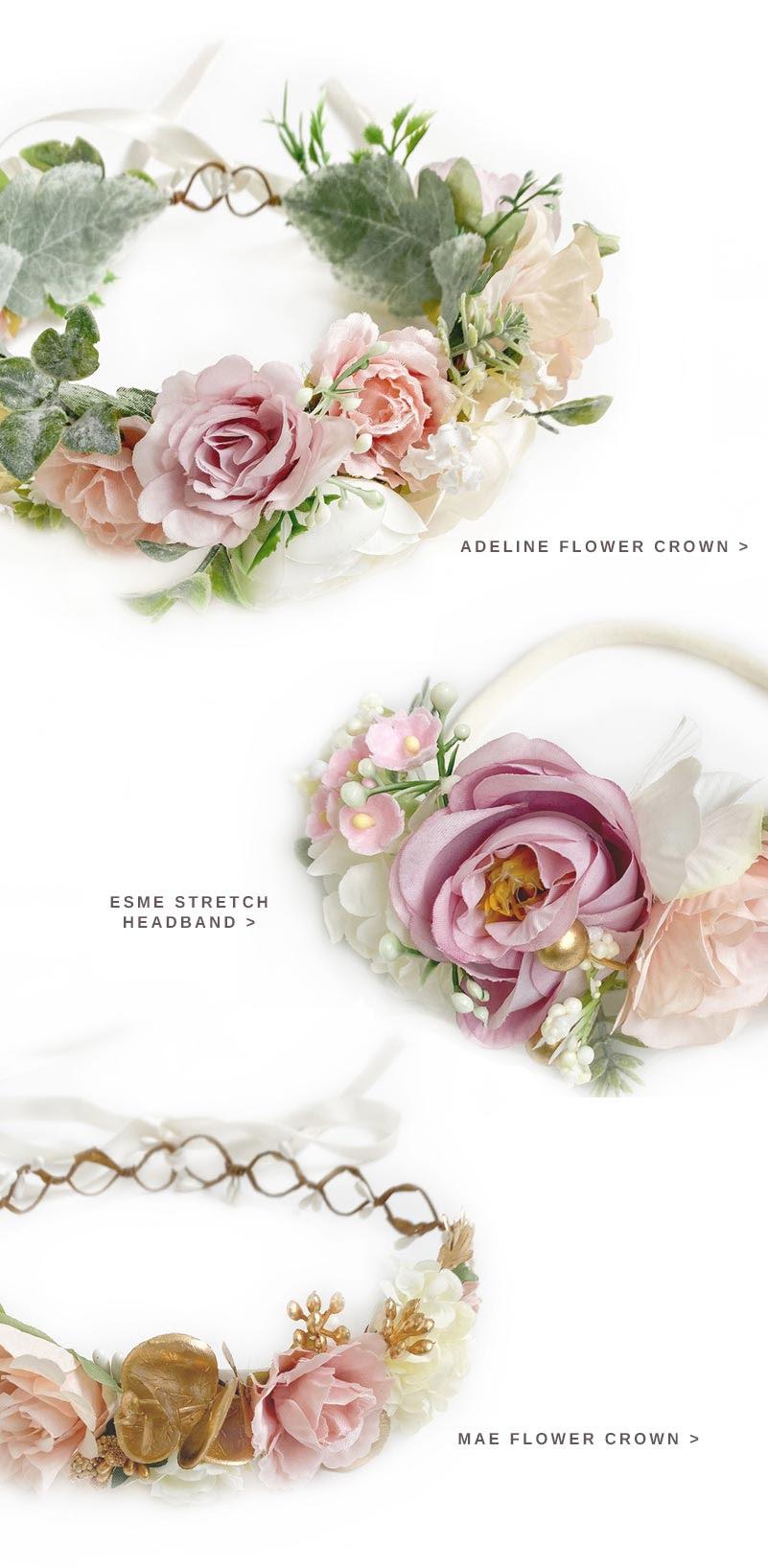 Flower Crown and Flower Girl Dresses