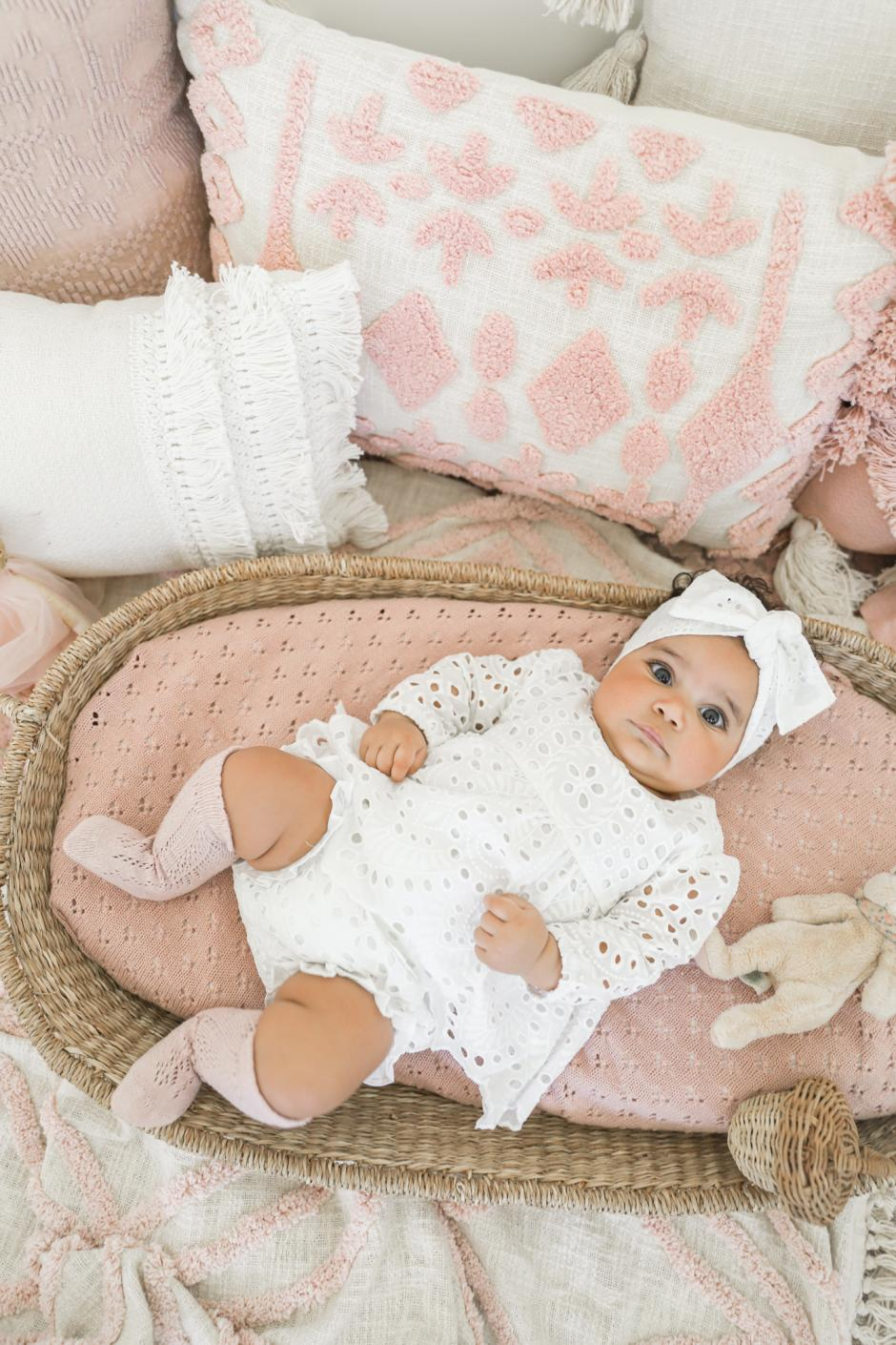Baby Girls White Ivy Two Piece Set Broderie Anglaise