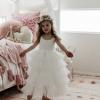 Elouisa White Mid Length Tutu Dress