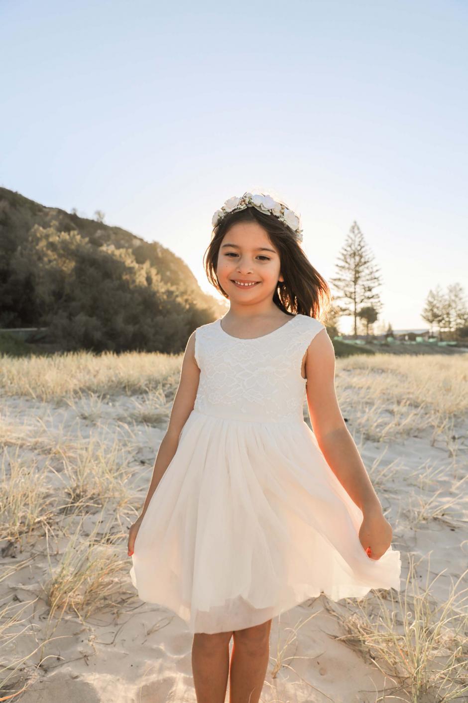 Cream Chloe Sleeveless Dress