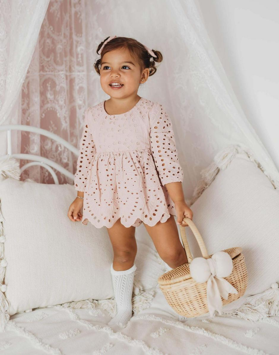 Dusty Rose Ivy Broderie Anglaise Two Piece Set