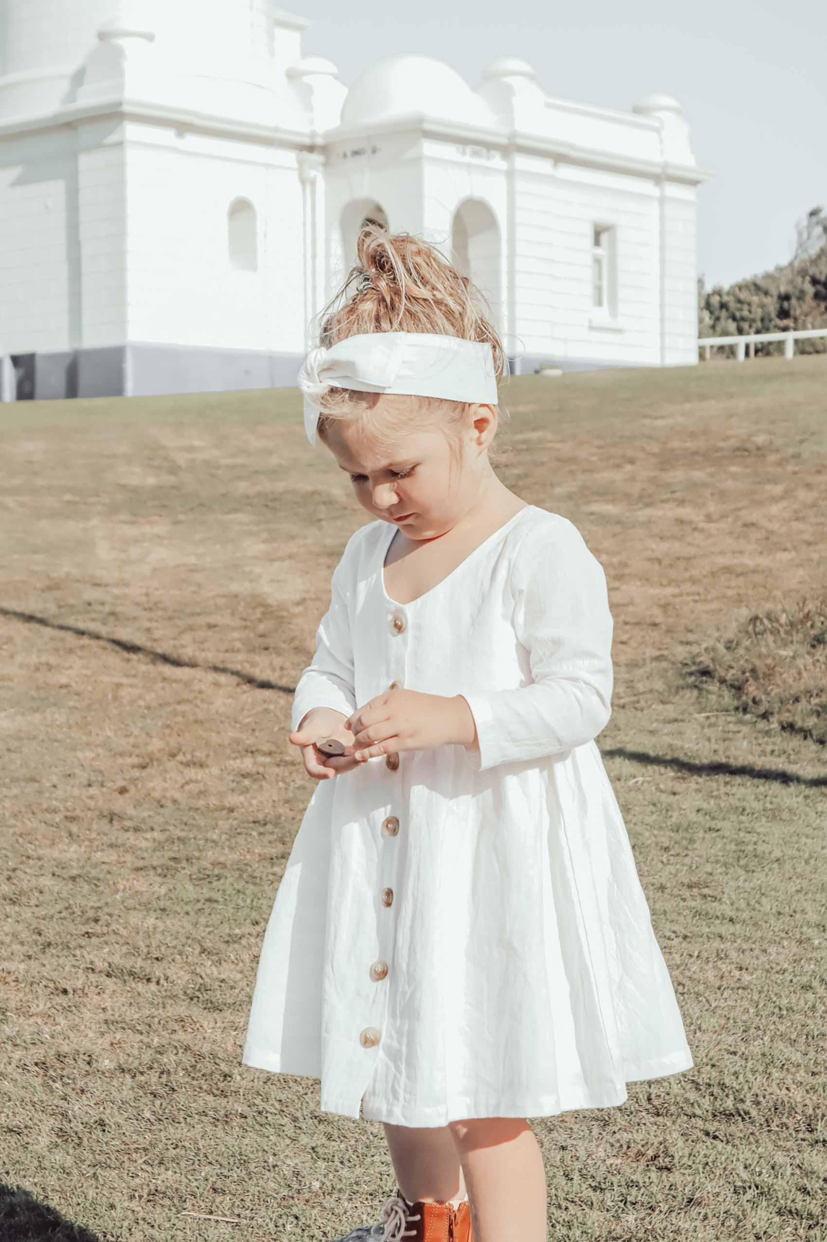 Tabitha Ivory Linen Dress