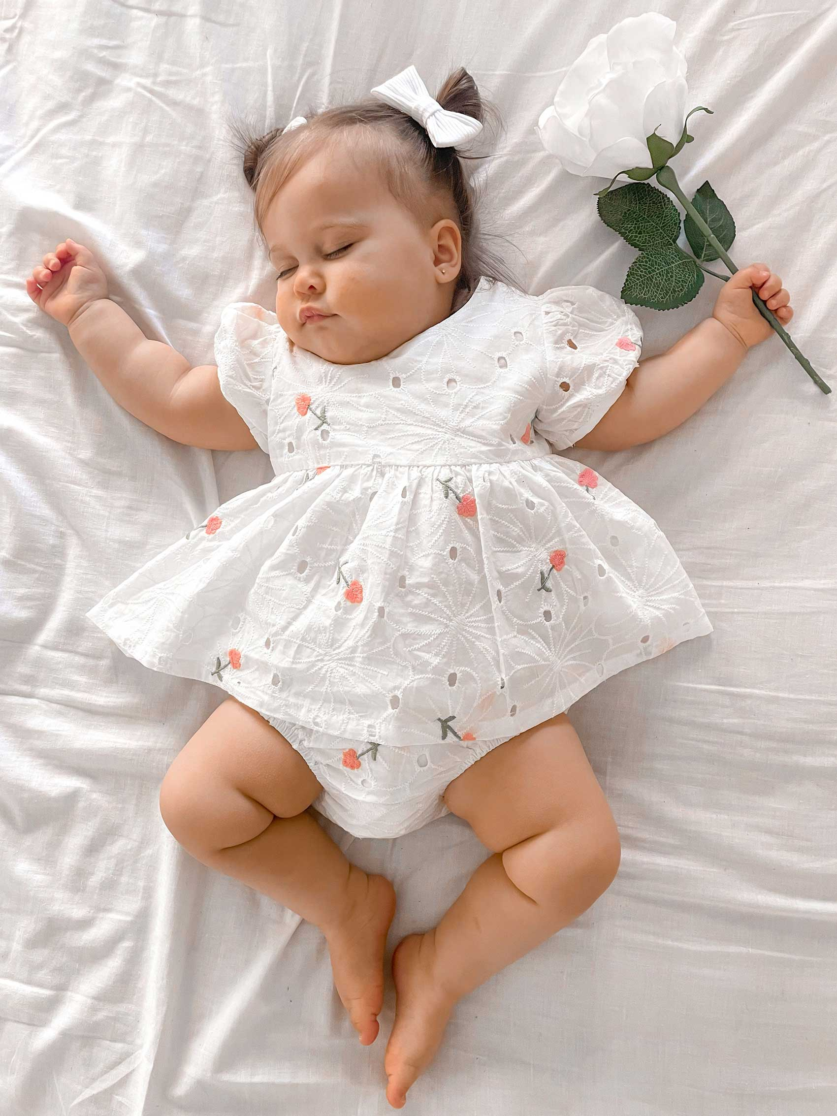 Tinkerbell Broderie Anglaise Two Piece Set