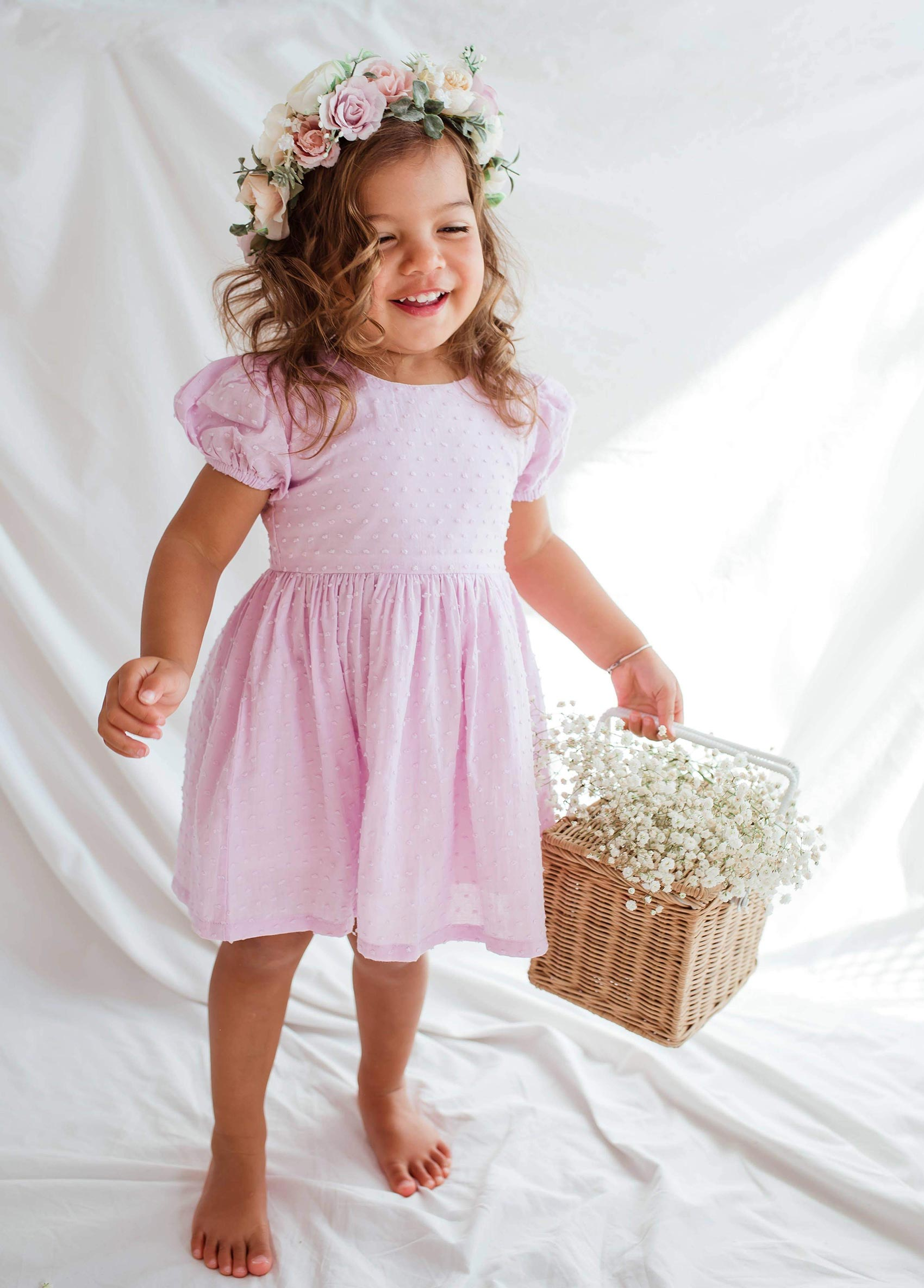 Violet Belle Puffed Sleeve Dress