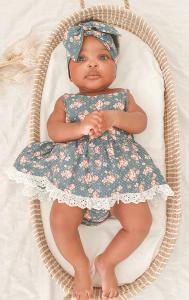 Forest Rose Romper Headwrap