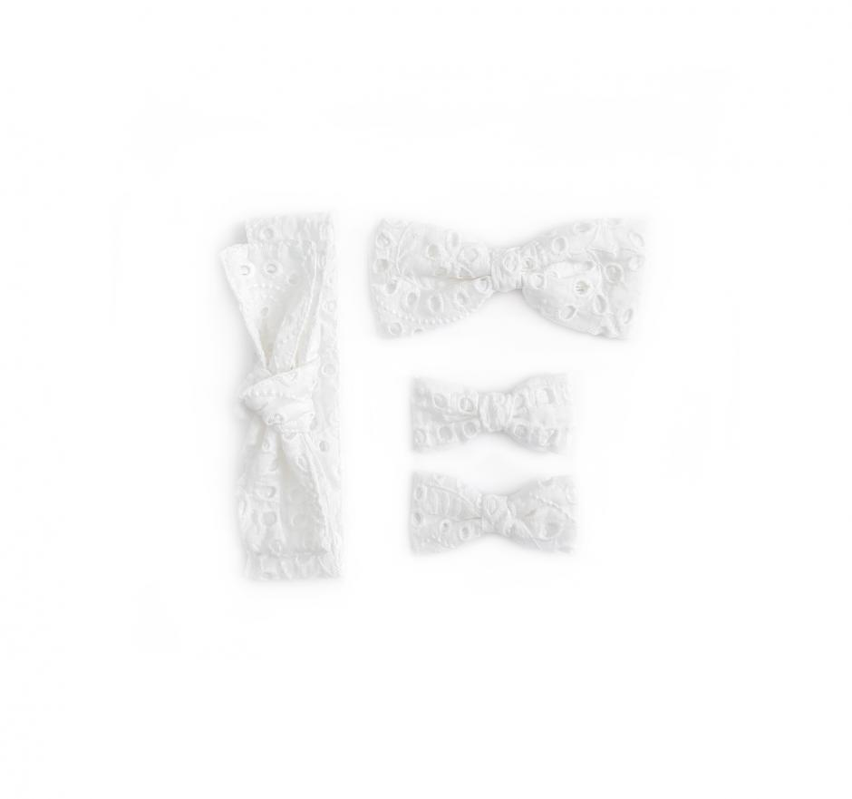 White Broderie Anglaise Accessories