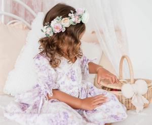 Adeline Flower Crown Faye Meadow Dress