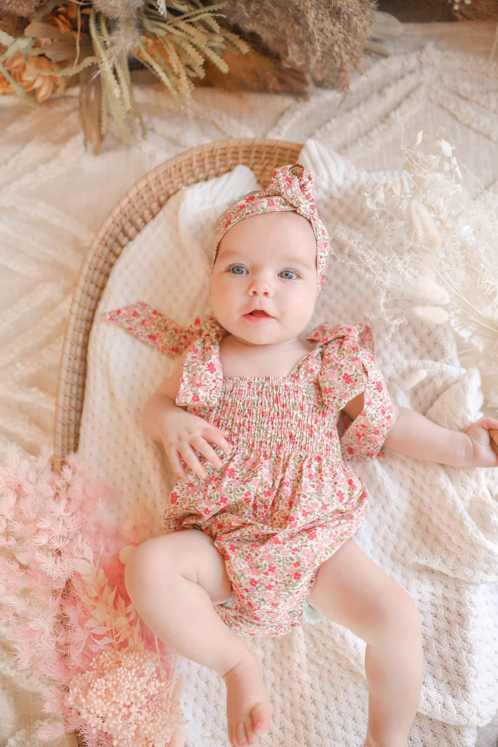 Baby Girl Flora Floral Romper